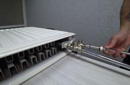 Монтаж радиаторов отопления с нижней подводкой Пушкино